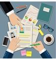 Job interview concept vector image vector image