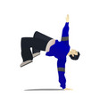 man dancing hip hop in cartoon style vector image