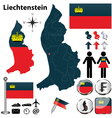 Map of Liechtenstein vector image vector image