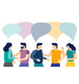 men and women talk to each other with speech vector image