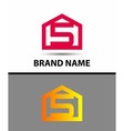 Number 5 logo logotype design with house vector image vector image