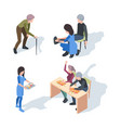 nursing home care elderly lifestyle activity vector image vector image