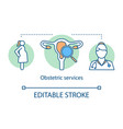 obstetric services concept icon vector image vector image