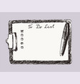 pad tablet to-do list empty copy space draw vector image