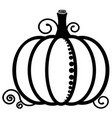 pumpkin black and white image vegetables vector image vector image