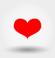 red heart icon flat vector image vector image