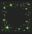round green glow light effect stars bursts with vector image vector image