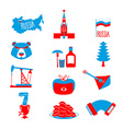 Russia symbol set Russian national character State vector image