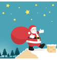 santa claus on a house vector image