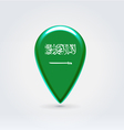 Saudi Arabian icon point for map vector image