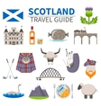 Scotland Travel Icons Set vector image