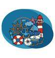 sea and nautical design set vector image vector image