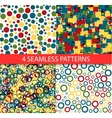 Seamless colorful patterns vector image vector image
