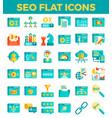 Seo search engine optimization flat icons