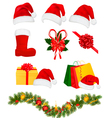 set christmas objects vector image vector image