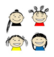 Smiling people icons for your design vector image vector image