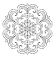 snow flake in zentangle style paper cutout mandala vector image vector image