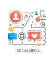 social media network marketing vector image