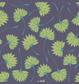 stylized tropical branches seamless pattern vector image vector image