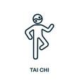 tai chi icon from alternative medicine collection
