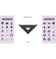 The ruler triangle icon - graphic elements for