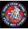 vintage man riding motorcycle emblem vector image