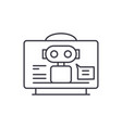 virtual assistant line icon concept virtual vector image vector image