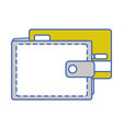 wallet to save credit card currency vector image