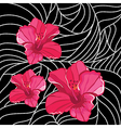Wallpaper with elegance flowers vector image vector image