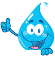 Water Drop Showing Thumbs Up vector image