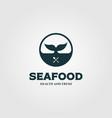 whale tale symbol for restaurant logo design vector image vector image