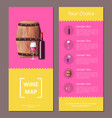 wine map and your choice advantages poster icons vector image vector image
