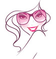 women face sunglasses vector image