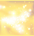 yellow abstract background with light spots vector image vector image