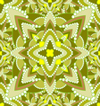 yellow green floral seamless pattern vector image