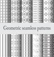 monochrome-geometric-seamless-pattern vector image