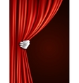 Theater curtain with hand vector image