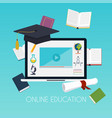 online education concept science concept with vector image