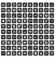 100 settings icons set black vector image vector image