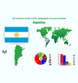 13 argentina all countries of the world vector image vector image
