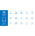 15 library icons vector image vector image