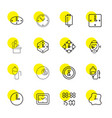 16 counter icons vector image vector image