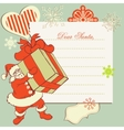a letter to santa claus vector image