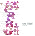 Abstract color triangles poster vector image vector image