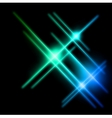 Abstract cyan and blue rays lights vector image vector image
