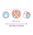 aids services concept icon vector image vector image