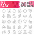 baby thin line icon set child symbols collection vector image vector image
