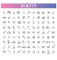 beauty outline icons set treatment vector image