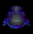 border frame label in baroque rococo victorian vector image vector image