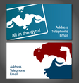 Business card for gym vector image